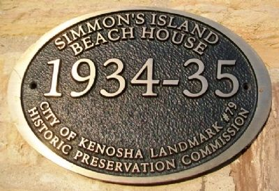 Simmon's [sic] Island Beach House Marker image. Click for full size.