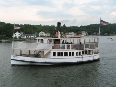 The Sabino cruising on the Mystic River image. Click for full size.