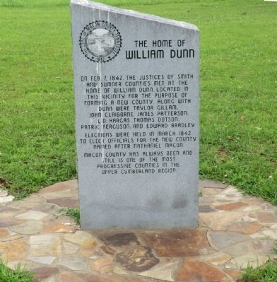 The Home of William Dunn Marker image. Click for full size.