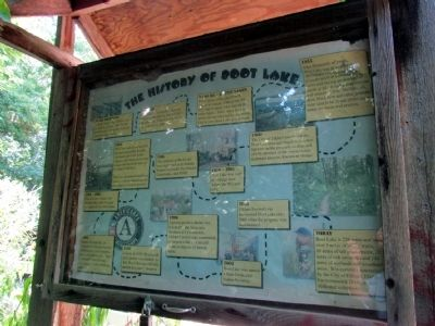 The History of Boot Lake Marker image. Click for full size.