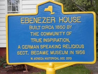 Ebenezer House Marker image. Click for full size.