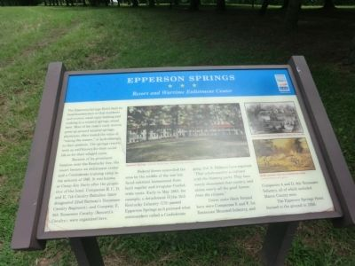 Epperson Springs Marker image. Click for full size.