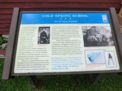 Cold Spring School Marker image. Click for full size.
