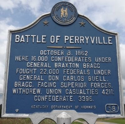 Battle of Perryville Marker image. Click for full size.