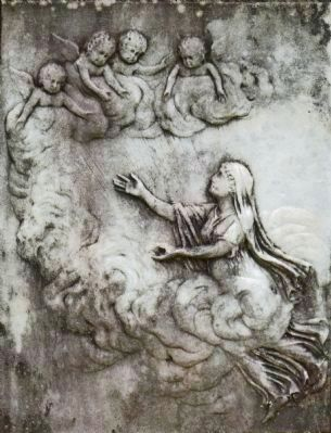 Bas Relief on Rosalie Calvert's Tomb image. Click for full size.
