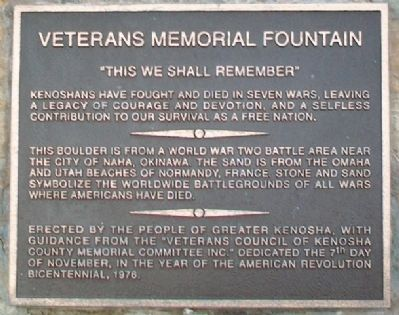 Veterans Memorial Fountain Marker image. Click for full size.