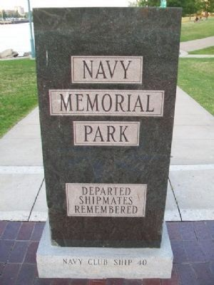 Naval Memorial Park Marker (front) image. Click for full size.
