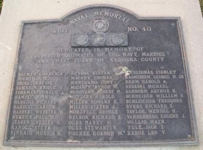 Naval Memorial Marker image. Click for full size.