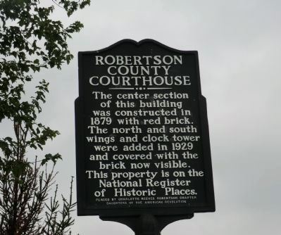 Robertson County Courthouse Marker image. Click for full size.
