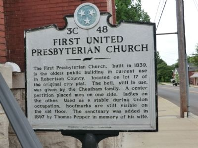 First United Presbyterian Church Marker image. Click for full size.