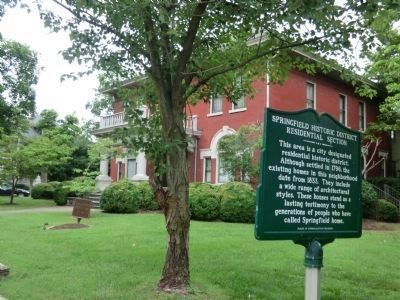 Springfield Historic District Marker image. Click for full size.