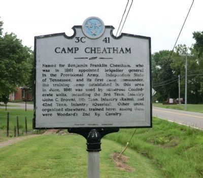 Camp Cheatham Marker image. Click for full size.