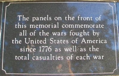 War Memorial Panels Marker image. Click for full size.