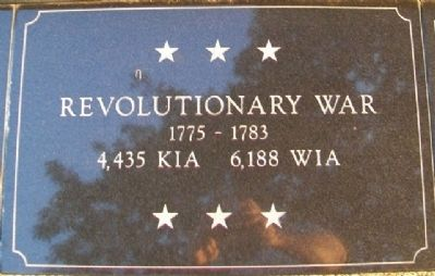 War Memorial Revolutionary War Marker image. Click for full size.