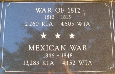 War Memorial War of 1812 and Mexican War Marker image. Click for full size.