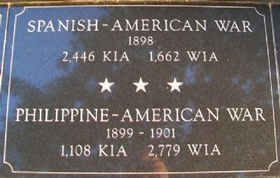 War Memorial Spanish-American War Marker image. Click for full size.