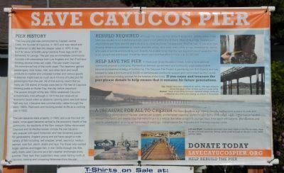 Save Cayucos Pier Banner image. Click for full size.