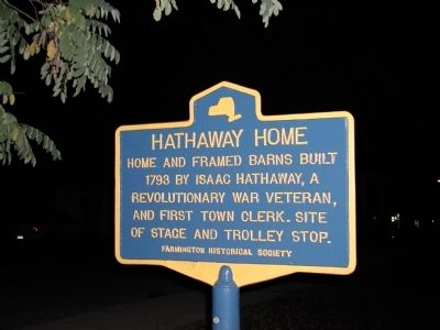 Hathaway Home Marker image. Click for full size.