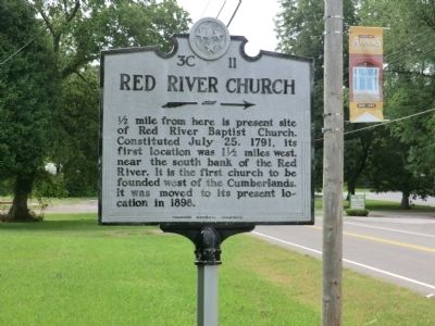 Red River Church Marker image. Click for full size.