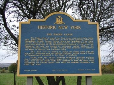 Historic New York - Finger Lakes Marker image. Click for full size.
