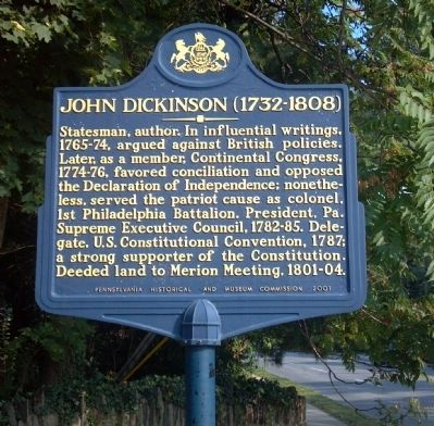John Dickinson Marker image. Click for full size.