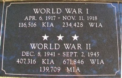 War Memorial WWI - WWII Marker image. Click for full size.