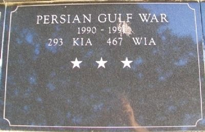 War Memorial Persian Gulf Marker image. Click for full size.