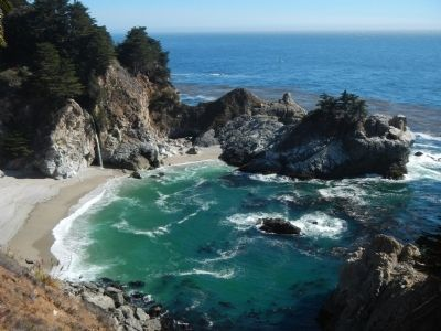 McWay Waterfall at Julia Pfeiffer Burns State Park image. Click for full size.