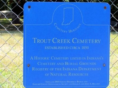 Trout Creek Cemetery Marker image. Click for full size.