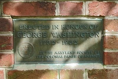 George Washington Marker in 1932 Commemorative Wall image. Click for full size.