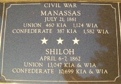 War Memorial Manassas - Shiloh Marker image. Click for full size.