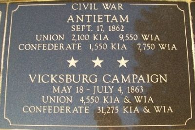 War Memorial Antietam - Vicksburg Marker image. Click for full size.