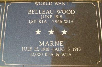 War Memorial Belleau Wood - Marne Marker image. Click for full size.