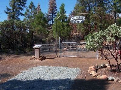 The Josephine Mine Cemetery & Monument image. Click for full size.