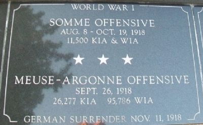 War Memorial Somme - Meuse-Argonne Marker image. Click for full size.