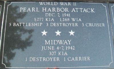 War Memorial Pearl Harbor - Midway Marker image. Click for full size.
