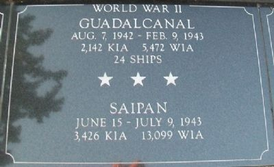 War Memorial Guadalcanal - Saipan Marker image. Click for full size.