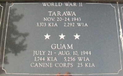 War Memorial Tarawa - Guam Marker image. Click for full size.