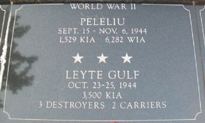 War Memorial Peleliu - Leyte Gulf Marker image. Click for full size.