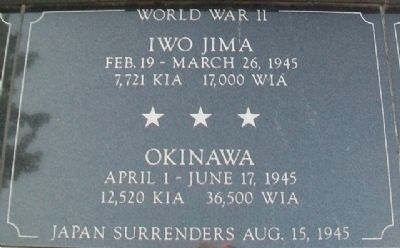 War Memorial Iwo Jima - Okinawa Marker image. Click for full size.