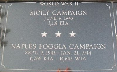 War Memorial Sicily - Naples Foggia Marker image. Click for full size.