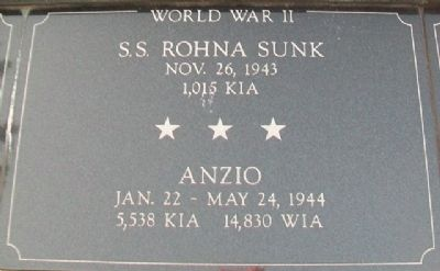 War Memorial SS Rohna - Anzio Marker image. Click for full size.