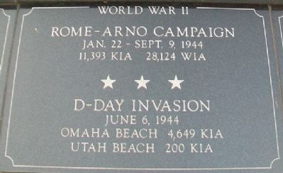 War Memorial Rome-Arno - D-Day Marker image. Click for full size.