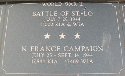 War Memorial St. Lo - N. France Marker image. Click for full size.