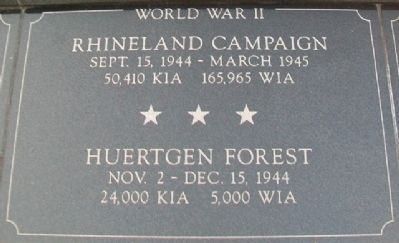 War Memorial Rhineland - Huertgen Forest Marker image. Click for full size.