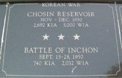 War Memorial Chosin - Inchon Marker image. Click for full size.