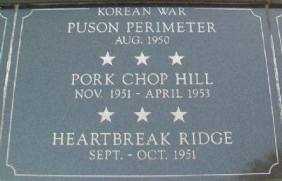 War Memorial Pusan - Pork Chop - Heartbreak Marker image. Click for full size.