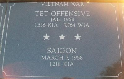 War Memorial Tet - Saigon Marker image. Click for full size.