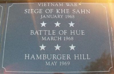 War Memorial Khe Sahn - Hue - Hamburger Marker image. Click for full size.