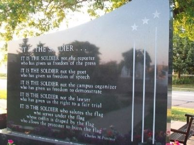 "War Memorial ""It Is The Soldier"" image. Click for full size."